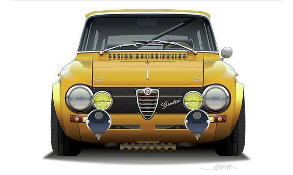 Wall Art - Digital Art - 1974 Alfa Romeo Giulia by Alain Jamar