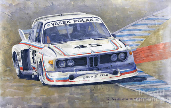 Wall Art - Painting - 1974 Bmw 3.5 Csl  by Yuriy Shevchuk