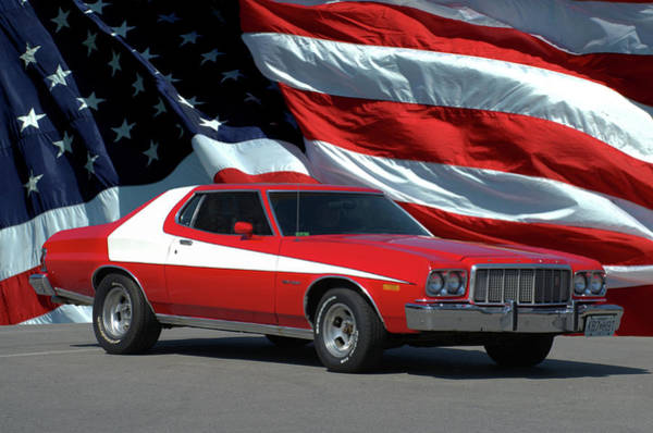 Photograph - 1974 Ford Torino Zebra Three by Tim McCullough