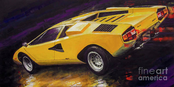 Wall Art - Painting - 1974 Lamborghini Countach Lp400 by Yuriy Shevchuk