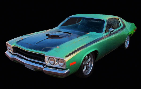 Painting - 1974 Plymouth Roadrunner Digital Oil by Chris Flees