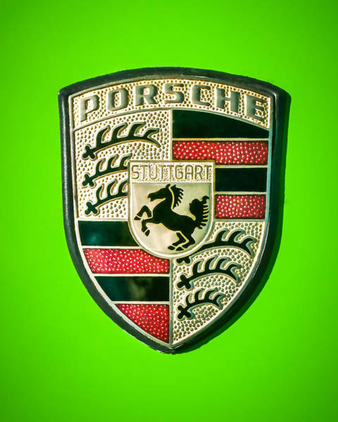 Photograph - 1974 Porsche Emblem -0221c45 by Jill Reger
