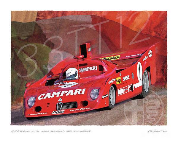 Digital Art - 1975 Alfa Romeo 33-tt-12 by Rick Andreoli