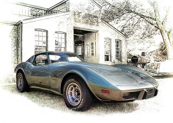 Photograph - 1976 Corvette Stingray by Susan Rissi Tregoning