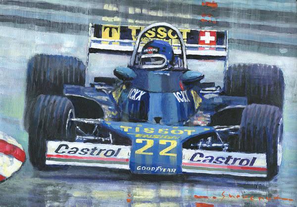 Wall Art - Painting - 1977 Monaco Gp Ensign Ford N177 Jacky Ickx by Yuriy Shevchuk