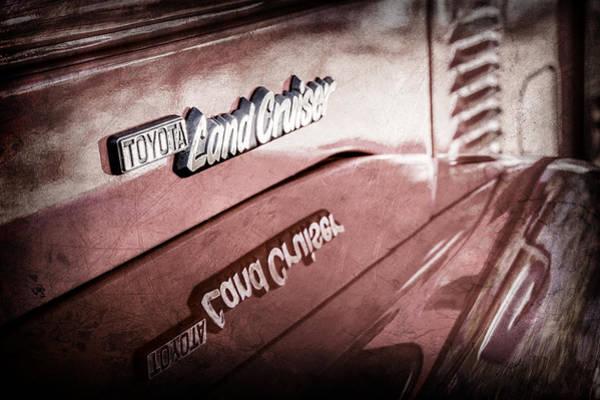 Photograph - 1977 Toyota Land Cruiser Fj40 Emblem -0952ac by Jill Reger
