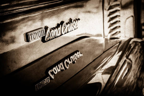 Photograph - 1977 Toyota Land Cruiser Fj40 Emblem -0952s by Jill Reger