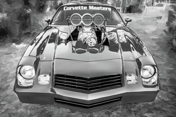 Photograph - 1978 Chevrolet Camaro Bw by Rich Franco