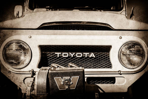 Photograph - 1978 Toyota Land Cruiser Fj40 Grille Emblem -0558s by Jill Reger