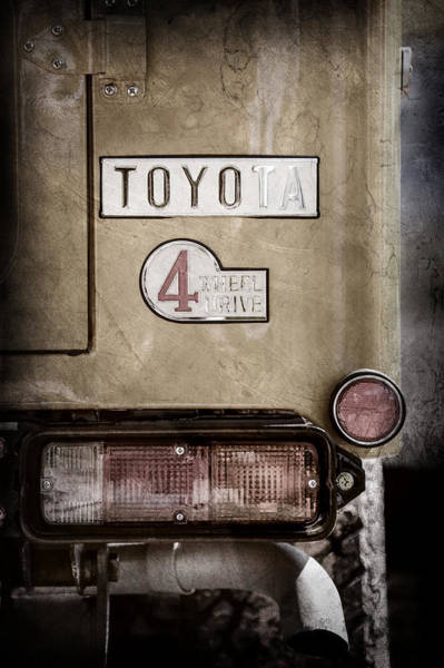 Photograph - 1978 Toyota Land Cruiser Fj40 Taillight Emblem -1191ac by Jill Reger