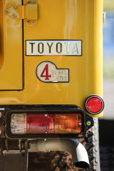 Wall Art - Photograph - 1978 Toyota Land Cruiser Fj40 Taillight Emblem -1191c by Jill Reger