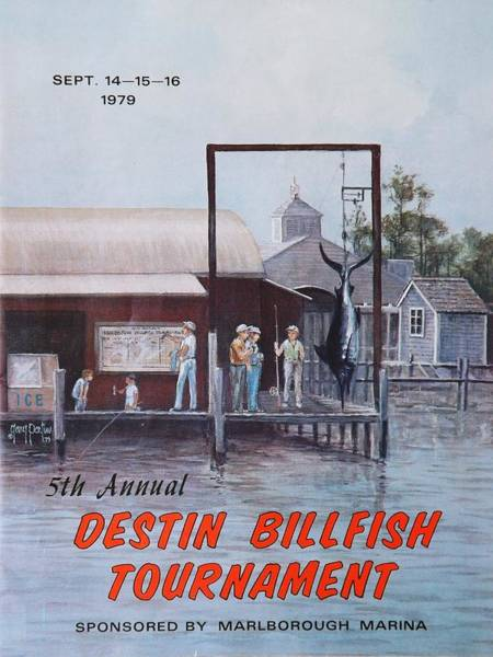 Painting - 1979 Destin Billfish Tournament by Gary Partin