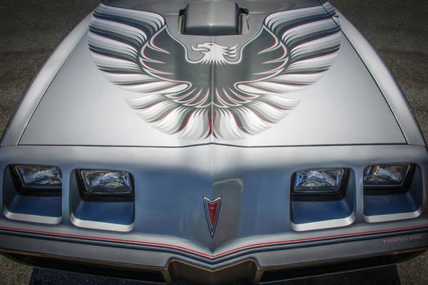Firebird Photograph - 1979 Pontiac Trans Am Hood Firebird -0812c by Jill Reger