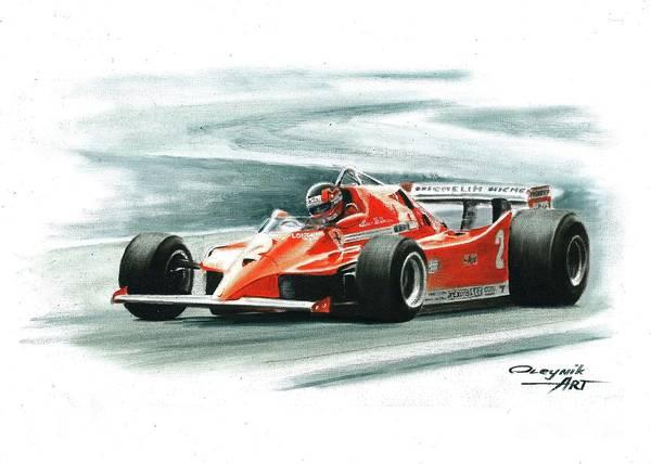 Ferrari 126c Painting - 1980  Ferrari 126c. Italy Gp by Artem Oleynik