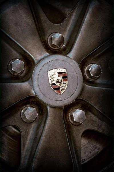 Wall Art - Photograph - 1980 Porsche 911sc Targa Wheel Emblem -1086ac by Jill Reger