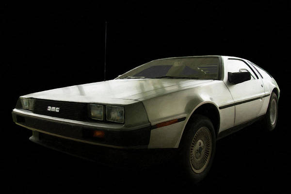 Painting - 1981-1983 Delorean  Dmc-12 Digital Oil by Chris Flees