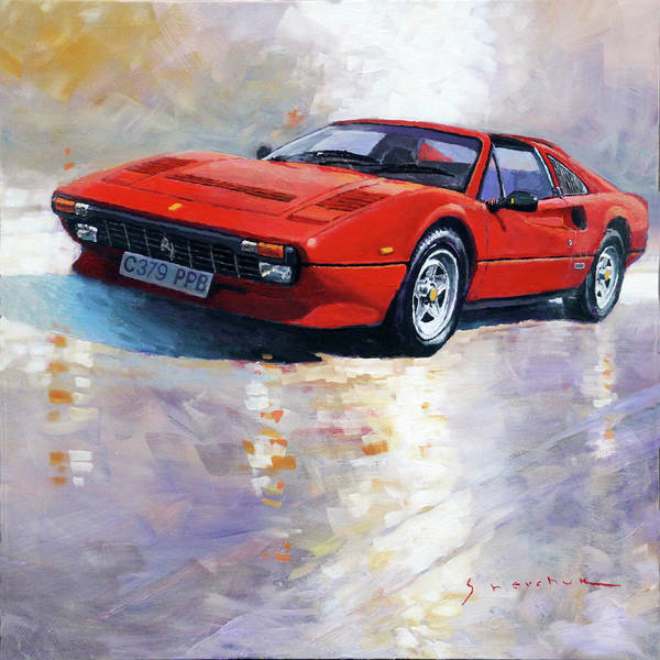 Wall Art - Painting - 1982-1985 Ferrari 308 Gts by Yuriy Shevchuk