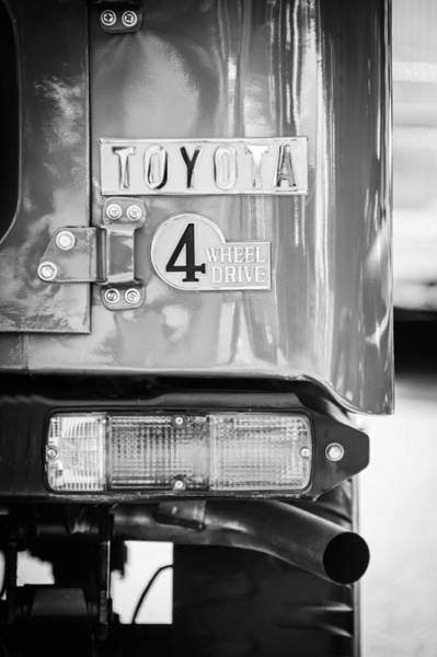 Photograph - 1982 Toyota Fj43 Land Cruiser Rear Emblem -0483c by Jill Reger