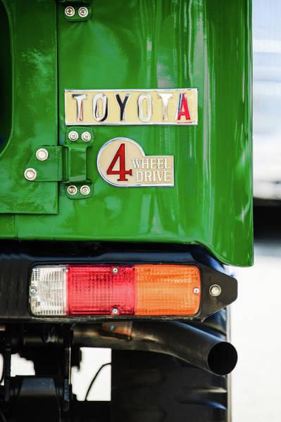 Photograph - 1982 Toyota Fj43 Land Cruiser Tail Light Emblem -0483g by Jill Reger