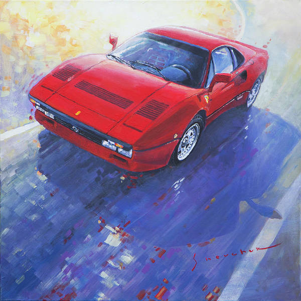 Car Painting - 1984 Ferrari 288 Gto by Yuriy Shevchuk