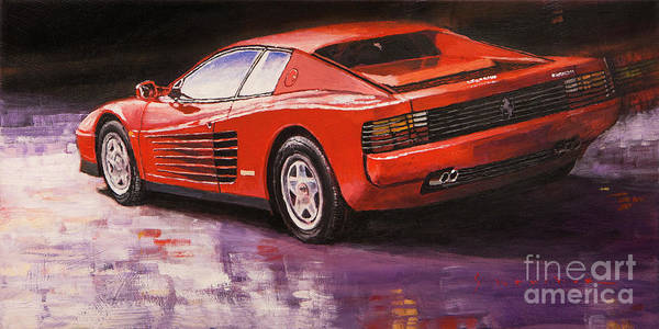 Wall Art - Painting - 1984 Ferrari Testarossa  by Yuriy Shevchuk