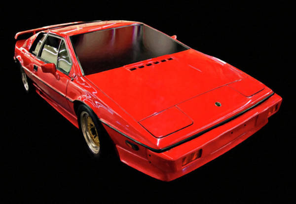 Painting - 1984 Lotus Esprit Digital Oil by Chris Flees