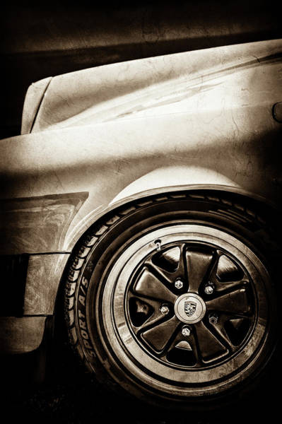Wall Art - Photograph - 1984 Porsche 911 Carrera Wheel Emblem -2270s by Jill Reger