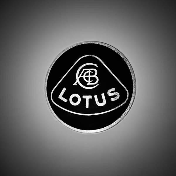 Wall Art - Photograph - 1986 Lotus Turbo Esprit Hcl Emblem -1734bw by Jill Reger