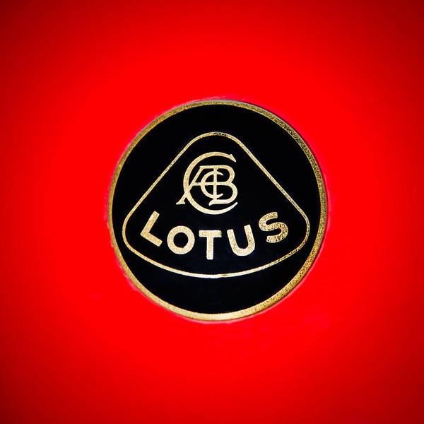 Wall Art - Photograph - 1986 Lotus Turbo Esprit Hcl Emblem -1734c by Jill Reger
