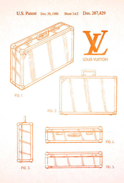Wall Art - Digital Art - 1986 Louis Vuitton Suitcase Patent 2 by Nishanth Gopinathan