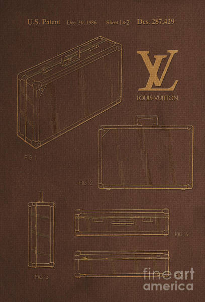 Wall Art - Digital Art - 1986 Louis Vuitton Suitcase Patent 4 by Nishanth Gopinathan