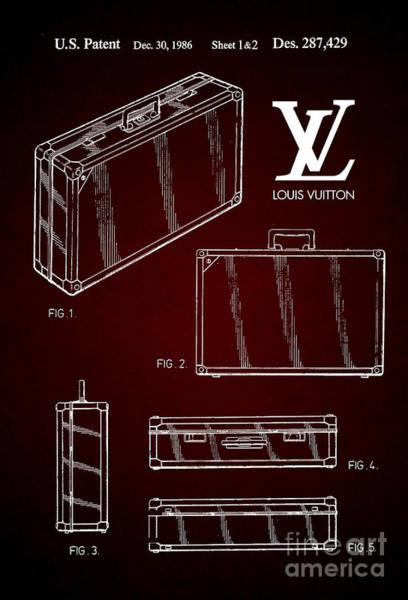 Louis Vuitton Digital Art - 1986 Louis Vuitton Suitcase Patent 6 by Nishanth Gopinathan