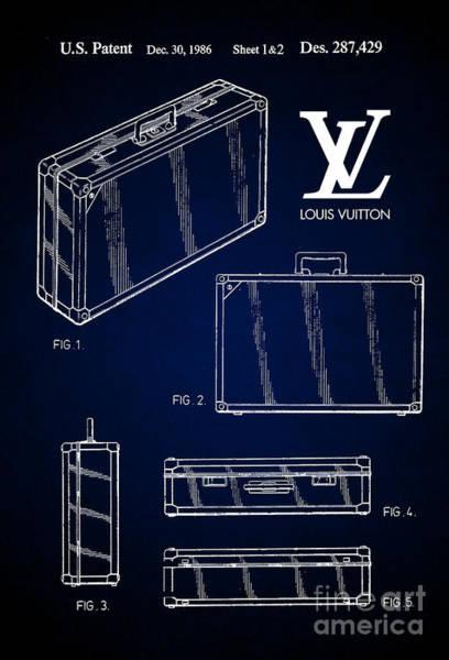 Louis Vuitton Digital Art - 1986 Louis Vuitton Suitcase Patent 7 by Nishanth Gopinathan