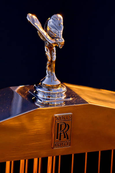 Photograph - 1986 Rolls-royce Hood Ornament by Jill Reger