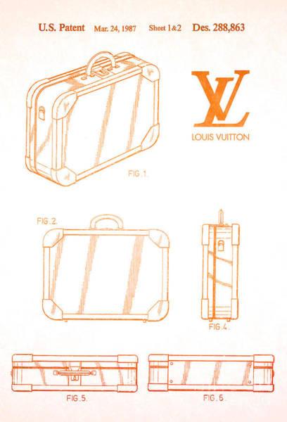 Louis Vuitton Digital Art - 1987 Louis Vuitton Suitcase Patent 2 by Nishanth Gopinathan
