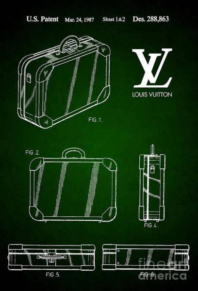 Louis Vuitton Digital Art - 1987 Louis Vuitton Suitcase Patent 5 by Nishanth Gopinathan