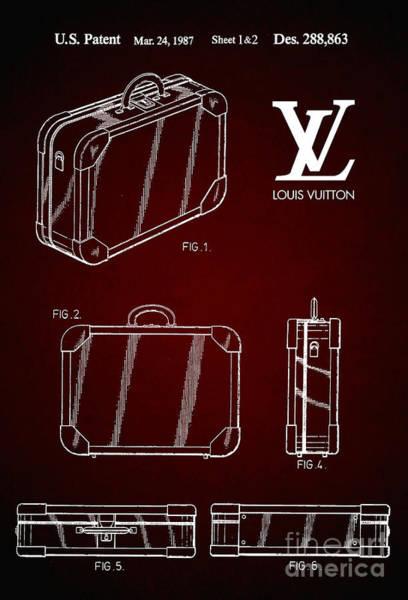 Louis Vuitton Digital Art - 1987 Louis Vuitton Suitcase Patent 6 by Nishanth Gopinathan