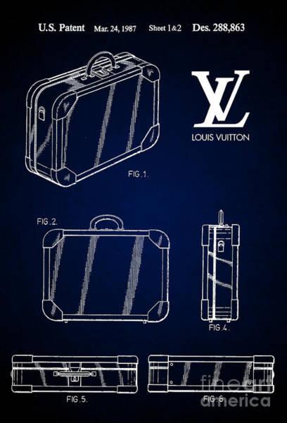 Louis Vuitton Digital Art - 1987 Louis Vuitton Suitcase Patent 7 by Nishanth Gopinathan
