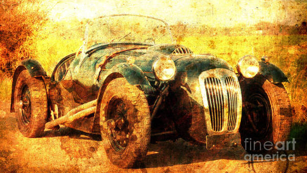 Race Car Painting - 1988 Frazer Nash Le Mans, Classic Car, Husband Gift by Drawspots Illustrations