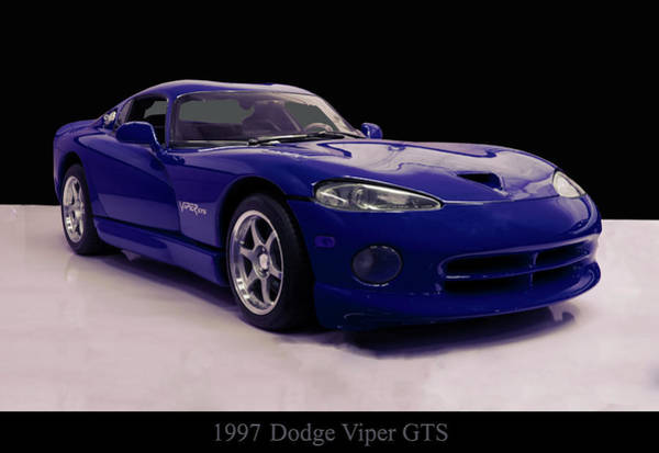 Photograph - 1997 Dodge Viper Gts Blue by Chris Flees