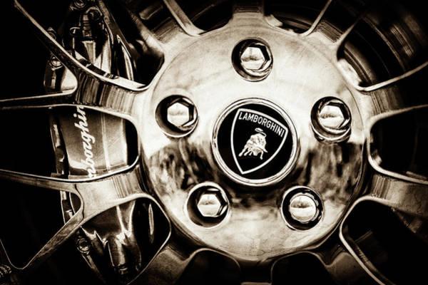 Photograph - 1997 Lamborghini Diablo Roadster  Wheel Emblem -1303s by Jill Reger