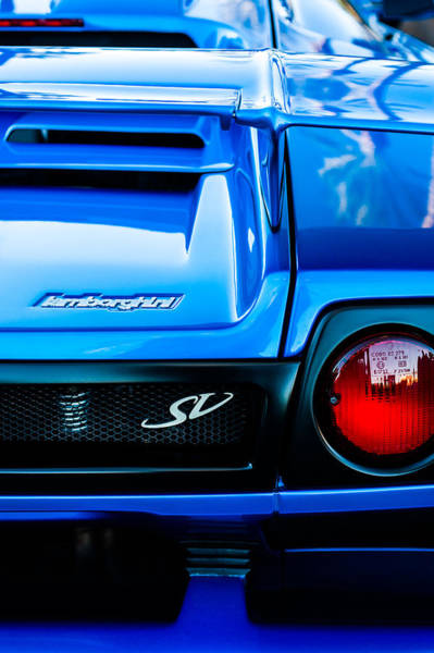 Photograph - 1998 Lamborghini Diablo Roadster Monterey Sv Edition Taillight -0278c by Jill Reger