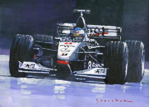 Motorsport Painting - 1998 Mika Hakkinen World Champion Formula One  Mclaren Mp4-13 by Yuriy Shevchuk
