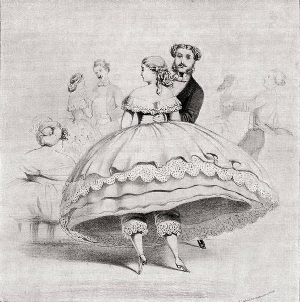 Wall Art - Drawing - 19th Century Lady Arriving At A Ball by Vintage Design Pics