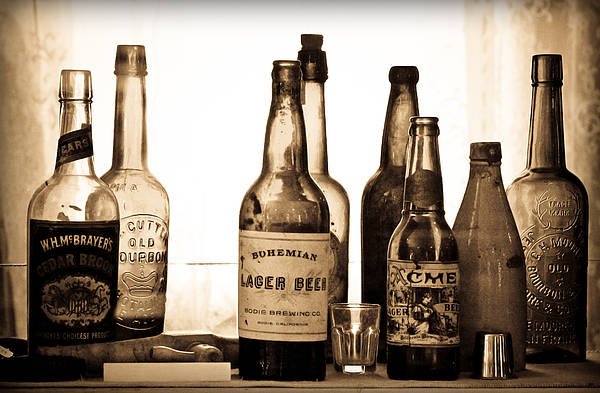 Photograph - 19th Century Liquor Bottles  by Levin Rodriguez
