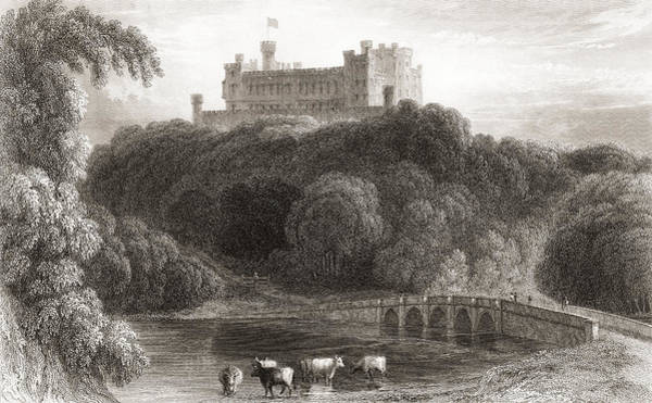 Wall Art - Drawing - 19th Century View Of Belvoir Castle by Vintage Design Pics