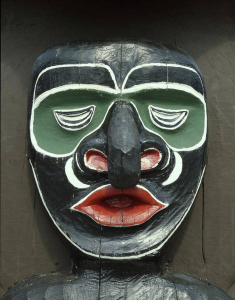 Photograph - 1a2923 Native American Mask Carving  by Ed  Cooper Photography