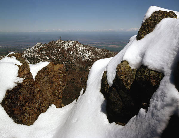 Photograph - 1a6485 Snow On Mt. Diablo Ca by Ed Cooper Photography