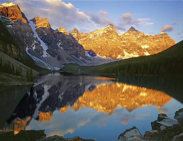 Photograph - 1m3401 Valley Of Ten Peaks Moraine Lake by Ed  Cooper Photography