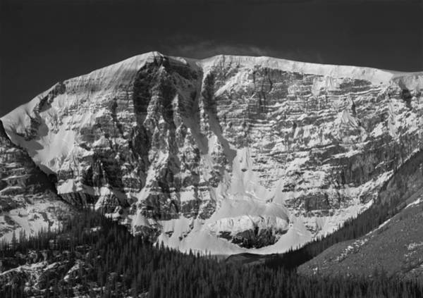 Photograph - 1m3769 Bw East Face Mt Kitchner by Ed Cooper Photography